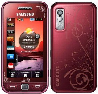Samsung S5230 Unlocked GSM Phone with 3 MP Camera,  player, Touch Screen and MicroSD Slot  International Version with No U.S. Warranty (Red) Cell Phones & Accessories