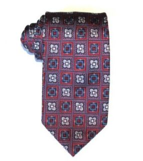 Mario Borelli Men's Necktie Geometric Red, Blue, Silver One Size at  Men�s Clothing store