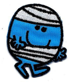 Mr. Bump wrapped in bandage ~ accident prone in Mr. Men & Little Miss Series Embroidered Iron On / Sew On Patch Badge