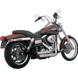 Vance & Hines Shortshots Staggered Exhaust   Chrome (CHROME) Automotive
