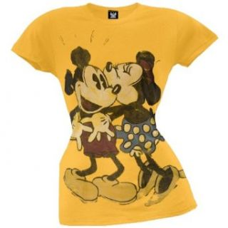 Mickey Mouse   In Love Juniors T Shirt Movie And Tv Fan T Shirts Clothing