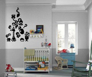 Little Monsters Children Million Questions Kids Room Wall Mural Vinyl Art Sticker M319   Wall Decor Stickers