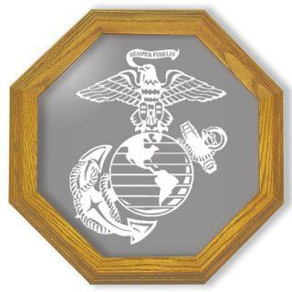 "Shop Decorative Framed Mirror Wall Decor With Marine Corp Military Etched Mirror   Marine Corp Military Decor   Unique Marine Corp Military Gift Ideas   Ready To Hang   20"" octagon at the  Home D�cor Store. Find the latest styles with the lowest price"