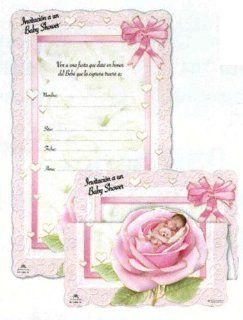 "100 Tri Fold Baby Shower Invitations in Spanish   Baby Girl, 5.25"" x 7"" Health & Personal Care"