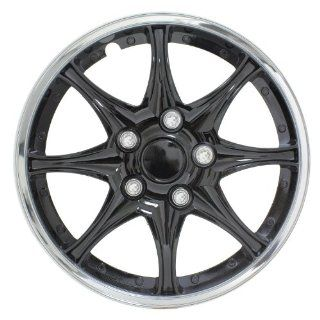 "Pilot Automotive WH522 16C B Black and Chrome 16"" Wheel Cover, (Set of 4) Automotive"