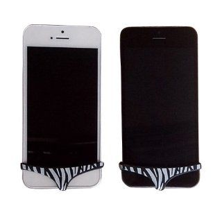 Black Zebra Sexy iPhone 5 or iPhone 5s Pants Home Button Protector Dock Dustproof And Decoration Cell Phones & Accessories