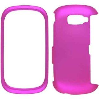 New Hot Pink Soft Touch Snap On Case For LG VN530 Cell Phones & Accessories