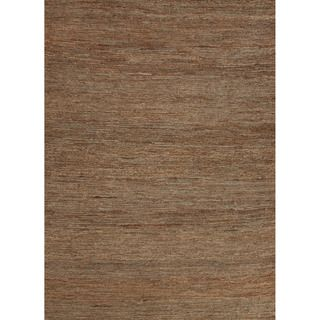 Hand woven Naturals Solid Pattern Brown Rug (2 X 3)