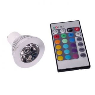 3w Gu10 Remote Control RGB LED Bulb 16 Color Changing Flash Lamp Spot Light   Led Household Light Bulbs