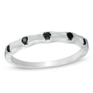 10 CT. T.W. Enhanced Black Diamond Five Stone Anniversary Band in