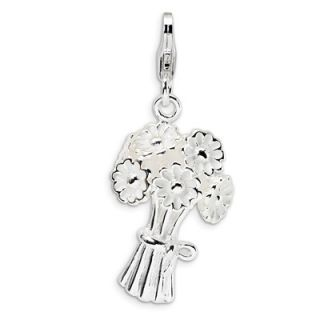 Amore La Vita™ White Flower Bouquet Charm in Sterling Silver   Zales