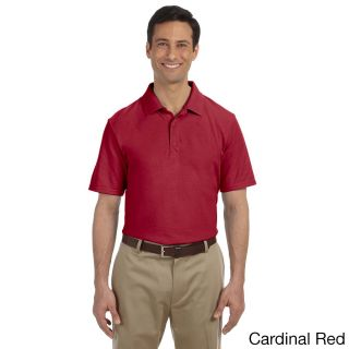 Gildan Mens Dry Blend Pique Sport Shirt Red Size XXL