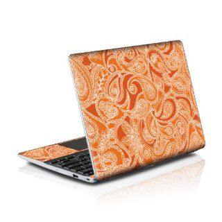 Paisley In Orange Design Protective Decal Skin Sticker (High Gloss Coating) for Samsung Series 5 550 Chromebook 12.1 inch XE550C22 H01US (released May 2012) Computers & Accessories