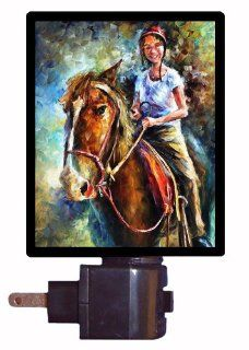 Horse Night Light   My Little Friend   Girl on Horse LED NIGHT LIGHT   Western Gifts For Women