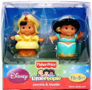 Fisher Price Little People Disney 2 Pack Jasmine and Aladdin Toys & Games