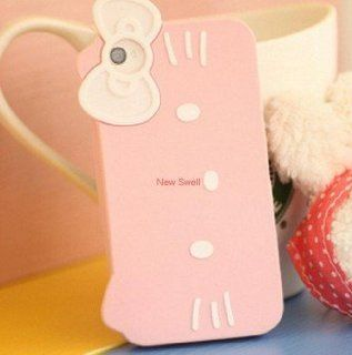Hello Kitty Cat Cute Big Face Soft Silicone Phone Case Cover For iPhone 4 4S Cell Phones & Accessories