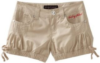 Baby Phat   Kids Girls 7 16 Bubble Short, Khaki, 8 Clothing