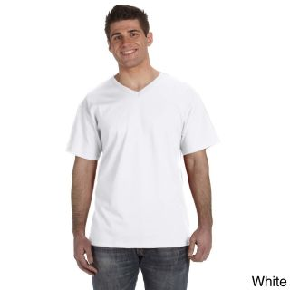 Fruit Of The Loom Mens Heavyweight Cotton V neck T shirt