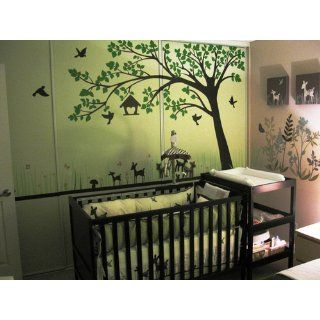 "PopDecors   Big tree with love birds(100"" W)   Custom Beautiful Tree Wall Decals for Kids Rooms Teen Girls Boys Wallpaper Murals Sticker Wall Stickers Nursery Decor Nursery Decals  Nursery Decor Products  Baby"