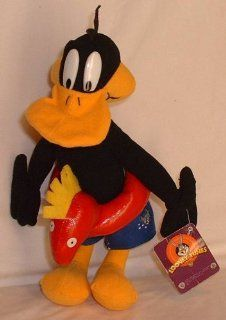 "Looney Tunes 10"" Daffy Duck with Swim Ring and Swimming Trunks Plush Toys & Games"