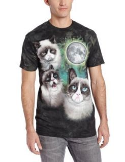 The Mountain Men's Three Grumpy Cat Moon T Shirt Clothing
