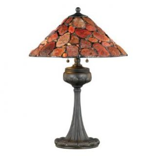Quoizel Natural Agate Tiffany Table Lamp with Agate Stone Shade, Vintage Bronze Finish #TF561TVB
