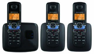 Motorola DECT 6.0 Cordless Phone with 3 Handsets, Digital Answering System and Mobile Bluetooth Linking L703BT  Corded Cordless Combination Telephones  Electronics