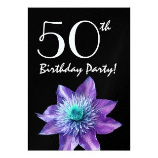 Birthday Party Template Purple Passion Flower Personalized Invitation