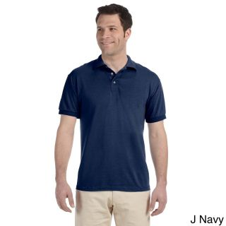 Jerzees Mens Heavyweight Blend Jersey Polo Shirt Navy Size XXL