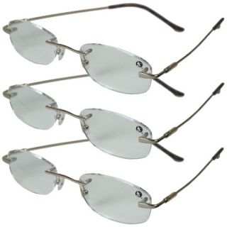 Metal Memory Reading Glasses   Gunmetal/Clear +1.25 Mild 732221