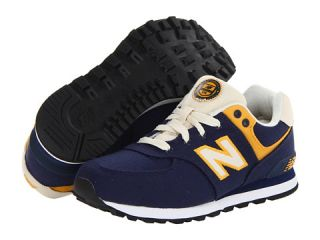 New Balance Kids KL574 (Toddler/Little Kid/Big Kid) Navy/Yellow
