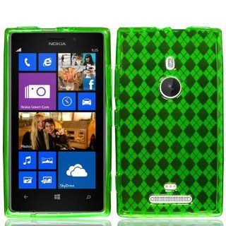 NOKIA LUMIA 925 GREEN PLAID TPU RUBBER SKIN COVER SOFT GEL CASE from [ACCESSORY ARENA] Cell Phones & Accessories