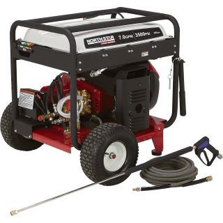 NorthStar Super High Flow Gas Cold Water Pressure Washer — 7.0 GPM, 3500 PSI, Electric Start, Belt Drive, Model# 1572092  Gas Cold Water Pressure Washers