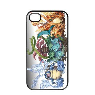 Pokemon Popular Venusaur Charizard Blastoise Apple iPhone 4 4S TPU Soft Black or White Cases (Black) Cell Phones & Accessories