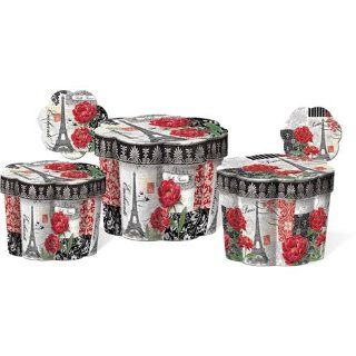 Punch Studio Belle France Set of 3 Fluted Boxes   Decorative Boxes