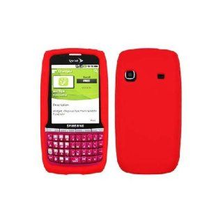 Samsung Replenish M580 SPH M580 Red Soft Silicone Gel Skin Cover Case Cell Phones & Accessories