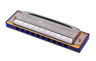 Hohner 3P595BX Blue Midnight Harmonica Pro, 3 Pack   Keys of A, C and G Musical Instruments