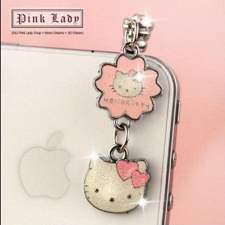 ip589 Cute Hello Kitty Anti Dust Phone Plug Cover Charm For iPhone Smart Phone Cell Phones & Accessories