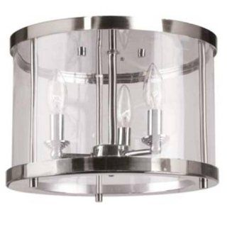 Artcraft Lighting AC593 Port Charlotte 3 Lite Flush Mount Light, Polished Nickel   Flush Mount Ceiling Light Fixtures
