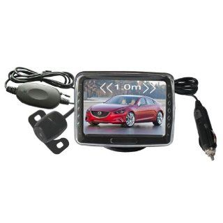 AUBIG PZ601 W 3.5 inch TFT LCD Wireless Car Rear View System 2.4G Vehicle Backup Reversing Monitor Detector with Camera Automotive