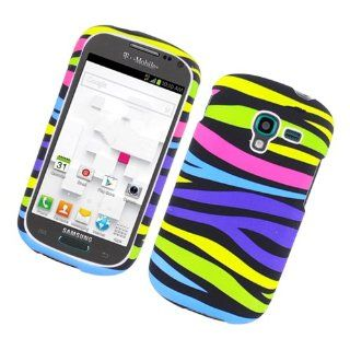 Rainbow Zebra Hard Cover Case for Samsung Galaxy Exhibit SGH T599 T Mobile Cell Phones & Accessories