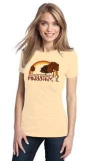 ANOTHER BEAUTIFUL DAY IN MARKHAM, IL Retro Ladies' T shirt / Illinois City Pride Tee Clothing