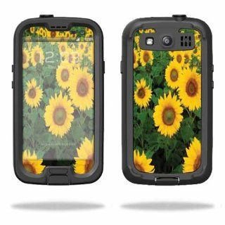 MightySkins Protective Vinyl Skin Decal Cover for LifeProof Samsung Galaxy S III S3 Case fre Sticker Skins Sunflowers Cell Phones & Accessories