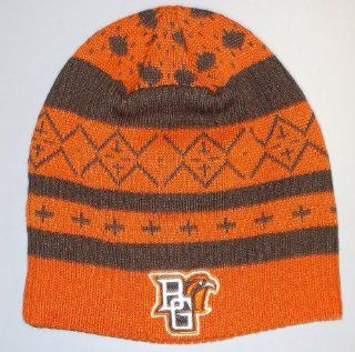 Bowling Green State University Falcons Cuffless Adidas Knit Hat   Osfa   KB37Z  Sports Fan Beanies  Sports & Outdoors