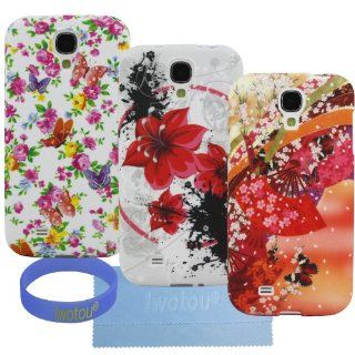 Iwotou Flower Series   Pack of 3 TPU Gel Case Cover for Samsung Galaxy S4 SIV i9500 + Accessories (Series 3) Cell Phones & Accessories