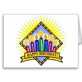 Happy Birthday Candles Greeting Cards