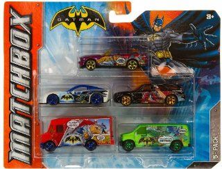Matchbox Batman 5 Pack Cars Series #1 (As Shown in Picture) Toys & Games