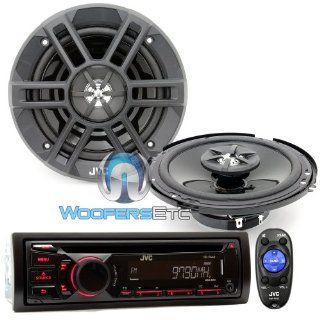 "Brand New JVC Package Car Stereo Receiver  WMA CD Player (KD R440) + 6.5"" 2 way Car Speakers (CS XM621)  Vehicle Receivers"