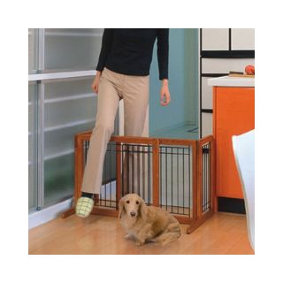 Richell Freestanding Wooden Pet Gate Dogs