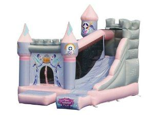 Kidwise Princess Enchanted Castle with Slide Bounce House Toys & Games